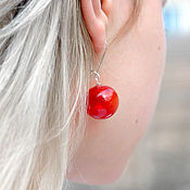 Украшения handmade. Livemaster - original item Glass earrings