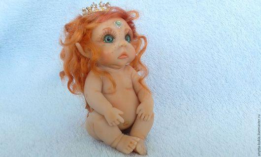 Миниатюра ручной работы. Ярмарка Мастеров - ручная работа. Купить ...Эльга-эльфийская принцесска..... Handmade. Бежевый, куколка, рыжая кукла