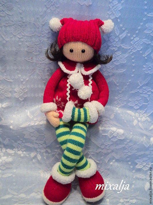Человечки ручной работы. Ярмарка Мастеров - ручная работа. Купить кукла- длинноножка Алина. Handmade. Ярко-красный, кукла интерьерная