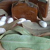 Косметика ручной работы handmade. Livemaster - original item Natural Solid Shampoo Eucalyptus Green Tea Silk. Handmade.