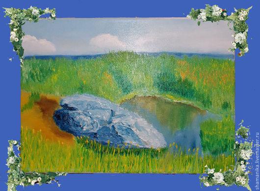 """Пейзаж ручной работы. Ярмарка Мастеров - ручная работа. Купить Картина """"Синий Камень"""". Handmade. Синий, картина, синь-камень"""