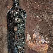 """Подарки к праздникам ручной работы. Ярмарка Мастеров - ручная работа Бутылка """"Из глубины веков"""" в стиле стимпанк. Handmade."""
