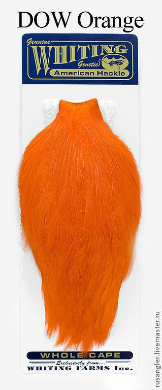 Другие виды рукоделия ручной работы. Ярмарка Мастеров - ручная работа. Купить Перья American Rooster Capes DOW Orange (41801251). Handmade.