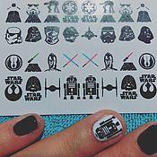 Косметика ручной работы. Ярмарка Мастеров - ручная работа Слайдеры для ногтей Star Wars - Звездные Войны. Handmade.