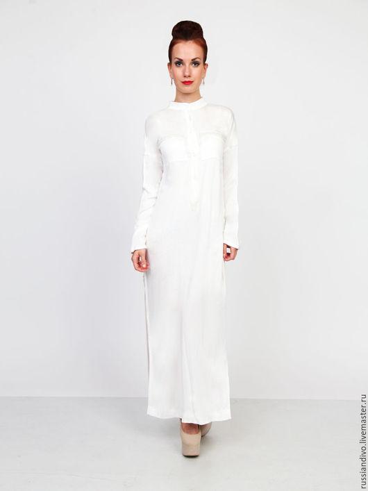 Платья ручной работы. Ярмарка Мастеров - ручная работа. Купить Платье-рубашка Жемчужное. Handmade. Белый, платье на заказ