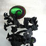 Украшения handmade. Livemaster - original item Bracelet of leather and beads weed. Handmade.