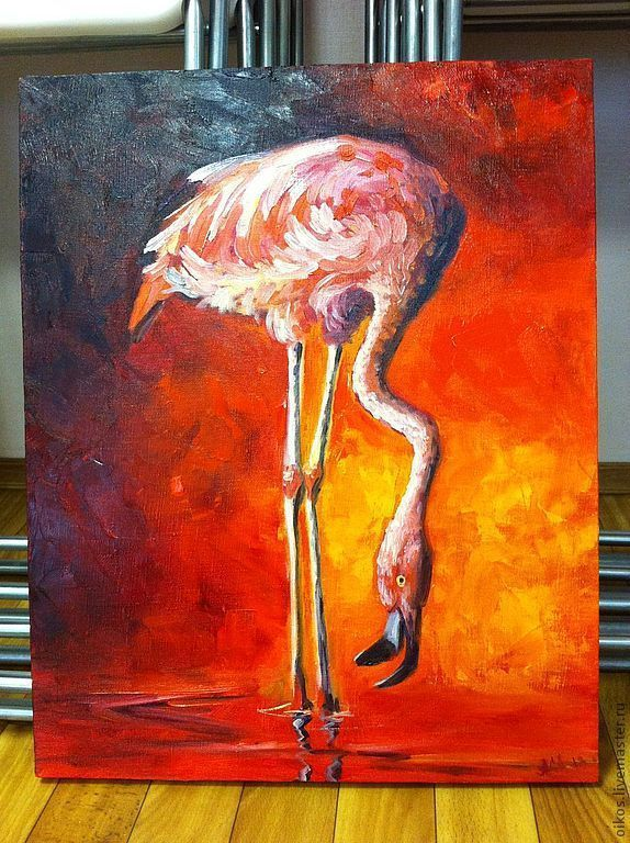Oil painting - Flamingo, Pictures, St. Petersburg,  Фото №1