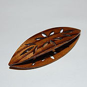 Материалы для творчества handmade. Livemaster - original item Wooden Tatting Shuttle Hand Made in Teak Decorated With Cuts Out. Handmade.
