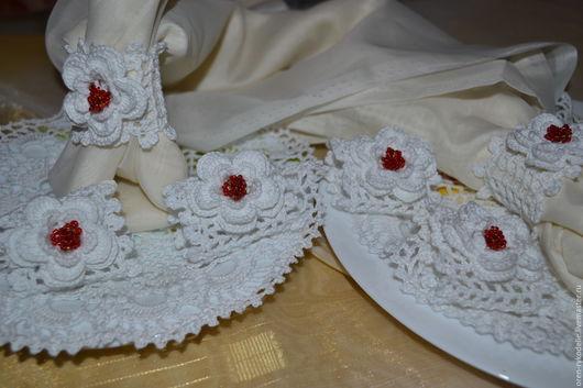 Кухня ручной работы. Ярмарка Мастеров - ручная работа. Купить держатель- кольцо для салфеток (6 шт). Handmade. Белый