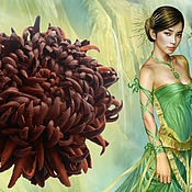 Украшения handmade. Livemaster - original item the colors of the skin. brooch hairpin chrysanthemum