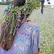 Одежда ручной работы. Ярмарка Мастеров - ручная работа Батик платье Фрезия. Handmade.