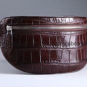 Сумки и аксессуары handmade. Livemaster - original item Cross-body or crocodile waist bag, unisex IMA0501VK4. Handmade.