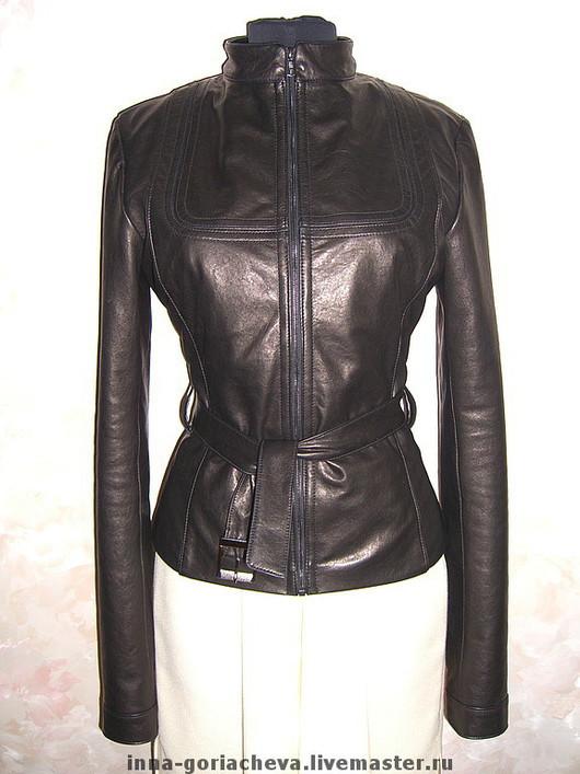 Верхняя одежда ручной работы. Ярмарка Мастеров - ручная работа. Купить куртка из натуральной кожи. Handmade. Куртка кожаная