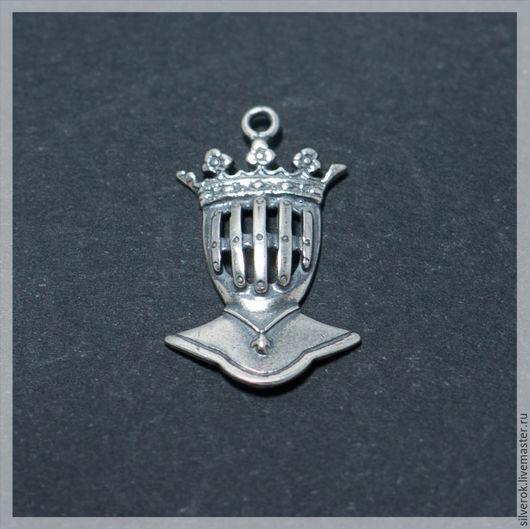 Для украшений ручной работы. Ярмарка Мастеров - ручная работа. Купить Подвес Рыцарь серебро 925 проба с чернением. Handmade.