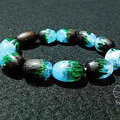 handmade. Livemaster - original item Waterfall-bracelet made of wood and jewelry (epoxy) resin. Handmade.