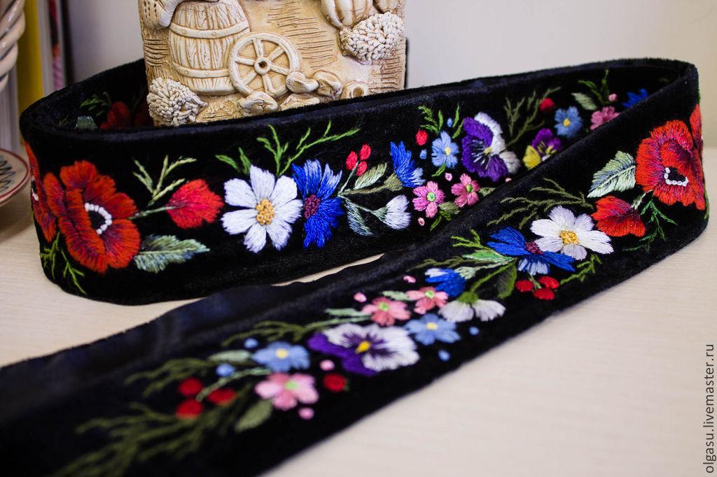 Вышивка на черном поясе тхэквондо