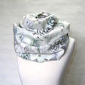 """Аксессуары handmade. Livemaster - original item Снуд валяный шарф """"Снежный вальс"""" мериносовый шарф. Handmade."""