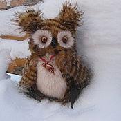 """Куклы и игрушки ручной работы. Ярмарка Мастеров - ручная работа Совушка """"Софи"""" авторская игрушка тедди сова, ручная работа. Handmade."""