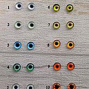 Глаза и ресницы ручной работы. Ярмарка Мастеров - ручная работа Глазки для игрушек  10мм (пара). Handmade.