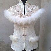 Одежда ручной работы. Ярмарка Мастеров - ручная работа Жилет валяный Лебедь. Handmade.