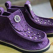 Обувь ручной работы handmade. Livemaster - original item Copy of Copy of Copy of Copy of Felt boots. Handmade.