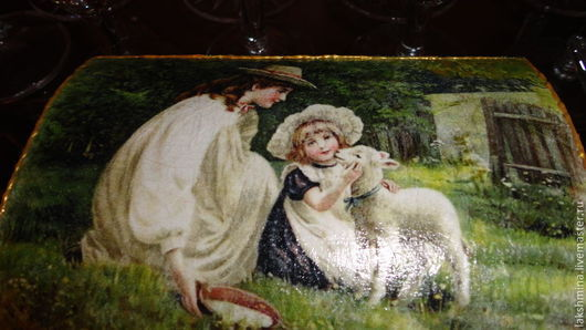 """Шкатулки ручной работы. Ярмарка Мастеров - ручная работа. Купить Ларец """"Lamby."""". Handmade. Тёмно-зелёный, шкатулка для украшений"""