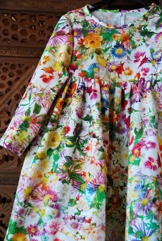Одежда для девочек, ручной работы. Ярмарка Мастеров - ручная работа. Купить Платье ЦВЕТЫ ЛЕТА. Handmade. Платье для девочки