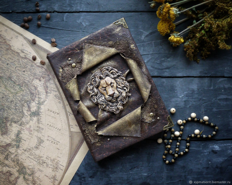Винтажный блокнот со львом, Блокноты, Новосибирск,  Фото №1