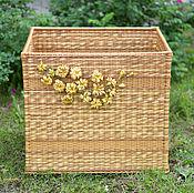 Для дома и интерьера ручной работы. Ярмарка Мастеров - ручная работа Плетеный большой короб Honey, плетеный ящик. Handmade.