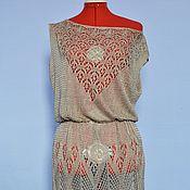 """Одежда ручной работы. Ярмарка Мастеров - ручная работа Вязаное платье """"Тёмное золото"""". Handmade."""