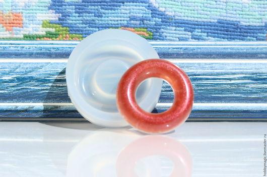 Для украшений ручной работы. Ярмарка Мастеров - ручная работа. Купить Молд круга, d-37мм.. Handmade. Силиконовая форма