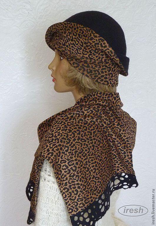 """Шляпы ручной работы. Ярмарка Мастеров - ручная работа. Купить Шляпка и шарф, комплект валяный """"Элегантный"""". Handmade. Черный"""