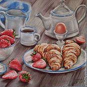 Картины и панно ручной работы. Ярмарка Мастеров - ручная работа Скидка 30%. Французский завтрак. Handmade.