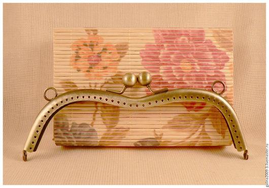 Другие виды рукоделия ручной работы. Ярмарка Мастеров - ручная работа. Купить Фермуар 19 см., вогнутый бронзовый.. Handmade.