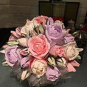 Цветы и флористика ручной работы. Ярмарка Мастеров - ручная работа Букет из конфет Зефирное настроение. Handmade.