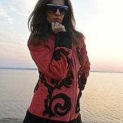 Куртки ручной работы. Ярмарка Мастеров - ручная работа Куртка замшевая с узором из каракуля в стиле барокко. Handmade.