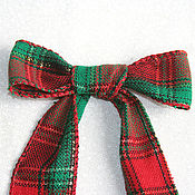 Материалы для творчества ручной работы. Ярмарка Мастеров - ручная работа Джутовая лента шотландка. Handmade.