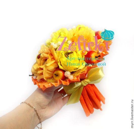 Букеты ручной работы. Ярмарка Мастеров - ручная работа. Купить Подарок на 8 марта Букет из конфет учителю Дублёр. Handmade.