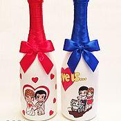 Свадебный салон handmade. Livemaster - original item Wedding decor bottles