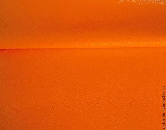 Шитье ручной работы. Ярмарка Мастеров - ручная работа. Купить Натуральная кожа  КРС - спелый мандарин. Handmade. Натуральная кожа