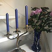"""Винтаж handmade. Livemaster - original item Бронзовый подсвечник на 3 свечи """"Каменный цветок"""", Голландия. Handmade."""