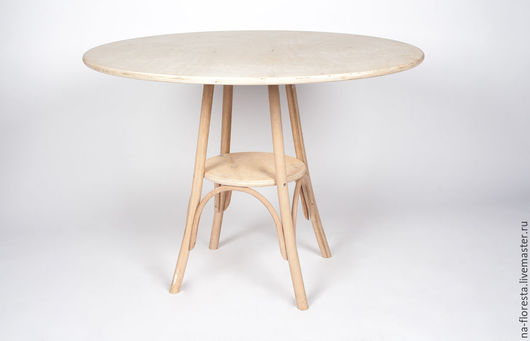 деревянный стол в венском стиле, мебель для декупажа и росписи, диаметр столешницы - 105см