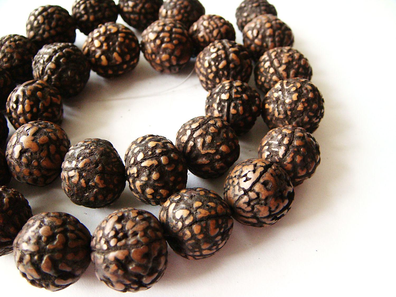 Straw palm Seed beads 12-14mm, Beads1, Bryansk,  Фото №1