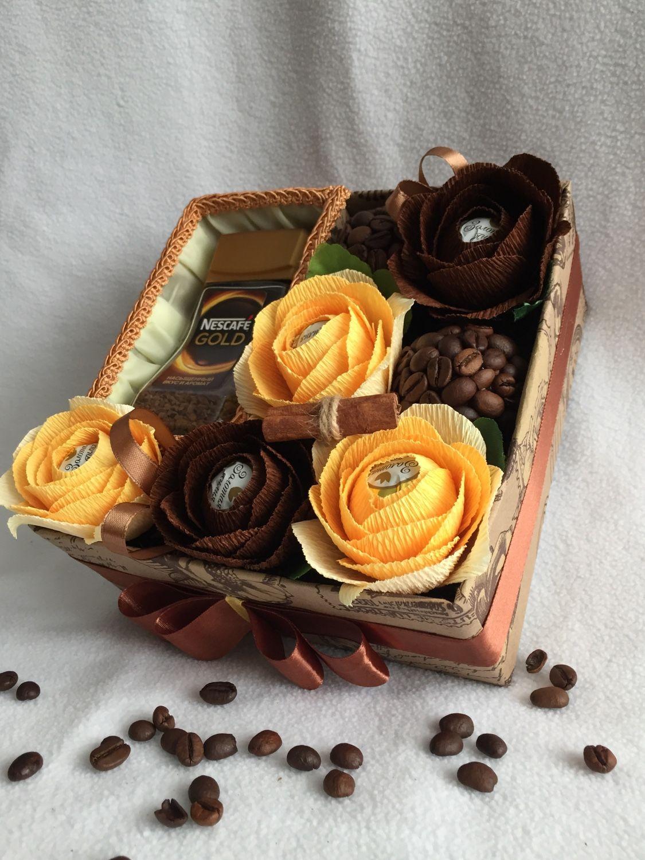 Букет из кофе или чая: подарок своими руками, видео мастер 65