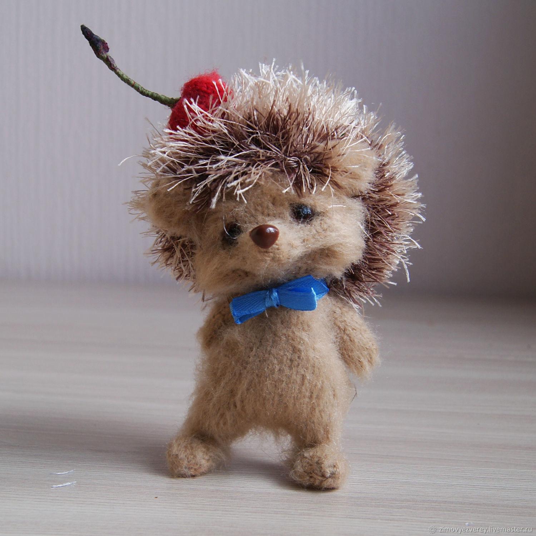 Ёжик с вишенкой, Амигуруми куклы и игрушки, Санкт-Петербург,  Фото №1