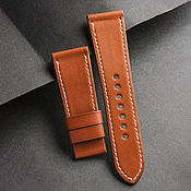 Украшения handmade. Livemaster - original item Calf leather watchband (09). Handmade.