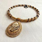 Украшения handmade. Livemaster - original item Pendant: Desert rose beading. Handmade.