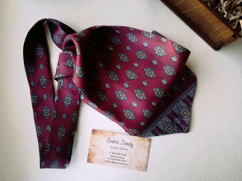 Галстуки, бабочки ручной работы. Ярмарка Мастеров - ручная работа. Купить Шейный платок Аскот из натурального шелка. Handmade. Галстук
