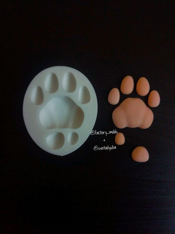 Куклы и игрушки ручной работы. Ярмарка Мастеров - ручная работа. Купить Силиконовый молд Лапа тигра 35мм. Handmade. Кошка