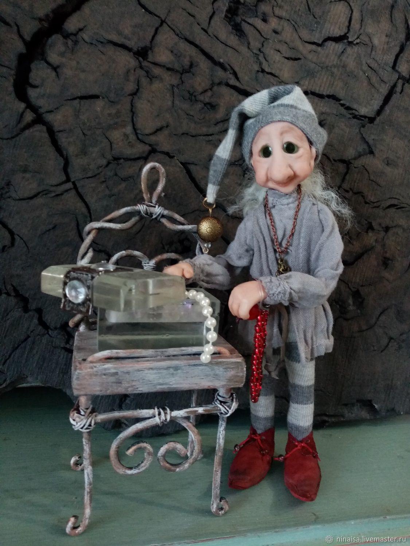 Гномыч со шкатулкой, Интерьерная кукла, Рогачев,  Фото №1
